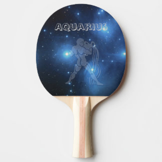 Transparent Aquarius Ping Pong Paddle