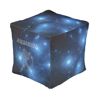 Transparent Aquarius Pouf