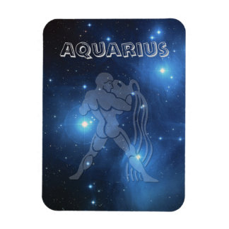 Transparent Aquarius Rectangular Photo Magnet