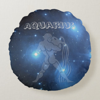 Transparent Aquarius Round Cushion
