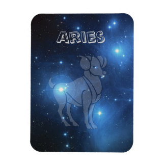 Transparent Aries Magnet