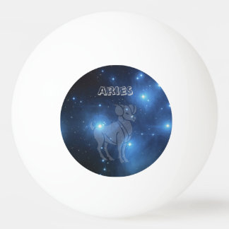 Transparent Aries Ping Pong Ball