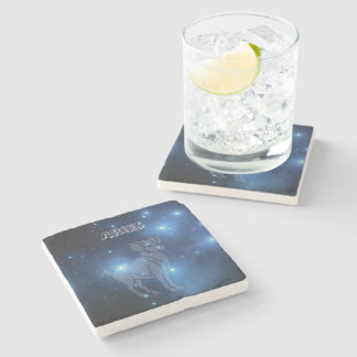 Transparent Aries Stone Coaster