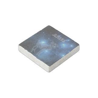 Transparent Aries Stone Magnet