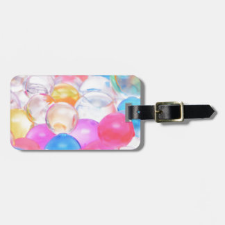 transparent balls luggage tag