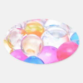 transparent balls oval sticker