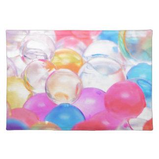 transparent balls placemat