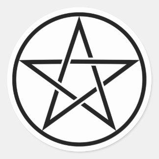 Transparent Black Pentacle Stickers