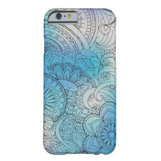 transparent black zen light pattern blue gradient barely there iPhone 6 case
