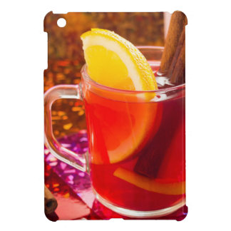 Transparent cup of tea with citrus and cinnamon iPad mini covers