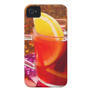 Transparent cup of tea with citrus and cinnamon iPhone 4 Case-Mate case