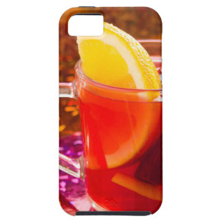 Transparent cup of tea with citrus and cinnamon iPhone 5 cases