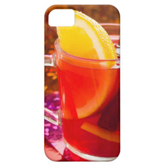 Transparent cup of tea with citrus and cinnamon iPhone 5 cover