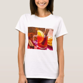 Transparent cup of tea with citrus and cinnamon T-Shirt
