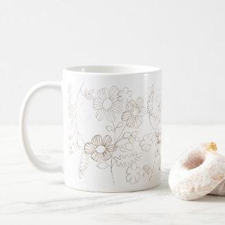 Transparent flowers coffee mug