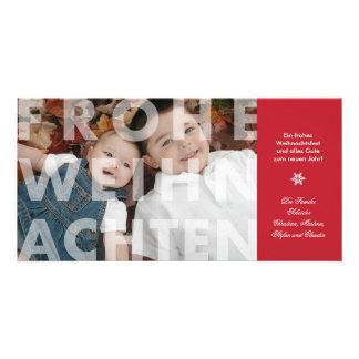 Transparent Frohe Weihnachten in Red Photo Card