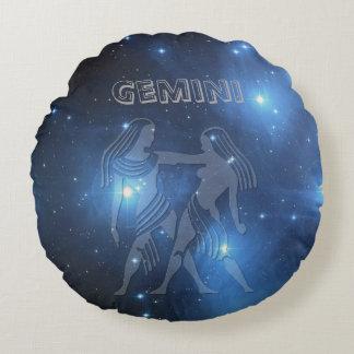 Transparent Gemini Round Cushion