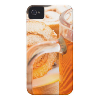 Transparent glass mug with hot tea and chocolate Case-Mate iPhone 4 cases