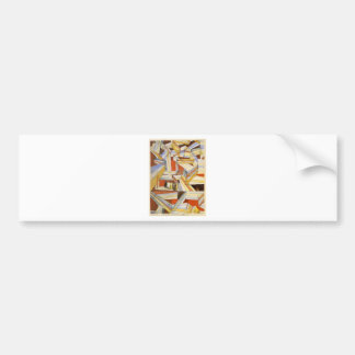 Transparent in perspective Grooved by Paul Klee Bumper Sticker