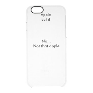 Transparent iPhone 6 case with text
