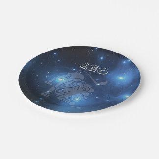 Transparent Leo Paper Plate