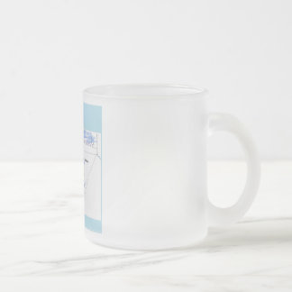 Transparent magnet frosted glass coffee mug