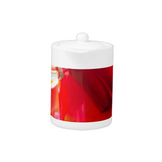 Transparent mug with citrus mulled wine, cinnamon