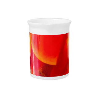Transparent mug with citrus mulled wine pitcher