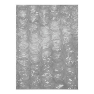 Transparent Novelty Bubblewrap 14 Cm X 19 Cm Invitation Card