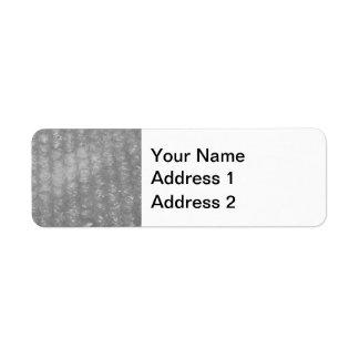 Transparent Novelty Bubblewrap Return Address Label