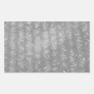 Transparent Novelty Bubblewrap Rectangular Sticker