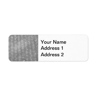 Transparent Novelty Bubblewrap Return Address Label