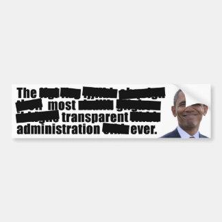 Transparent Obama - Election 2012 Bumper Sticker