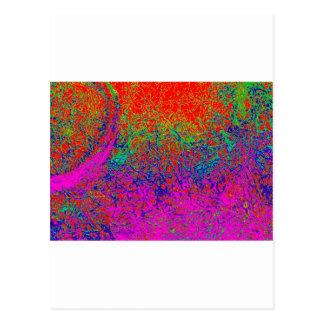 transparent rainbow elephant postcard