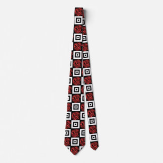 Transparent Red Dragon Pattern Tie
