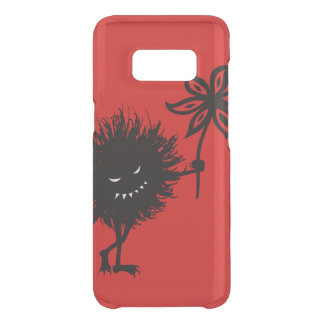 Transparent Red Evil Bug Gives Flower Get Uncommon Samsung Galaxy S8 Case