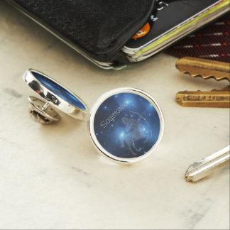 Transparent Sagittarius Lapel Pin