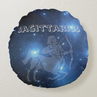 Transparent Sagittarius Round Cushion