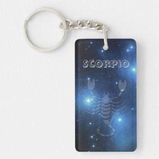 Transparent Scorpio Key Ring