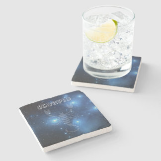Transparent Scorpio Stone Beverage Coaster