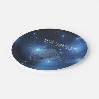 Transparent Taurus Paper Plate