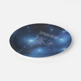 Transparent Virgo Paper Plate