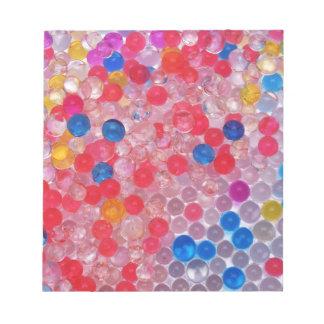 transparent water balls notepad