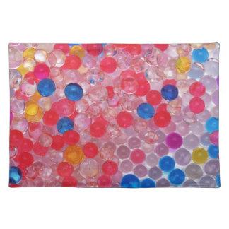transparent water balls placemat