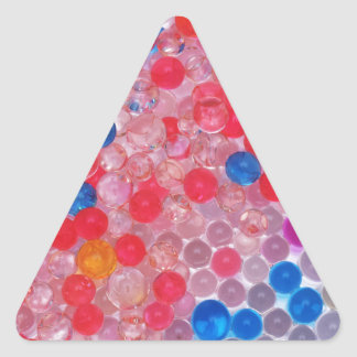 transparent water balls triangle sticker