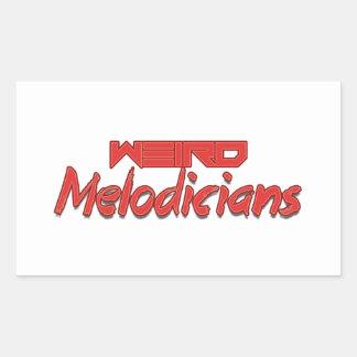 Transparent Weird Melodicians Sticker