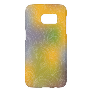 transparent white zen pattern yellow gradient