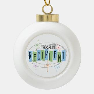 Transplant Recipient Retro Style Ceramic Ball Christmas Ornament