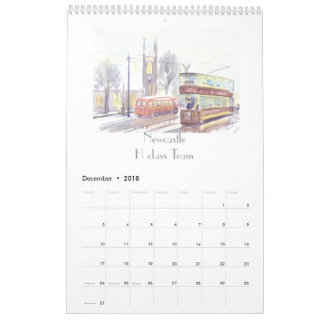 Transport Art calendar