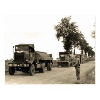 Transport Trucks Normandy 1944 Postcard